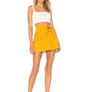 NEW NWT Majorelle Josephina Mini Skirt Yellow S